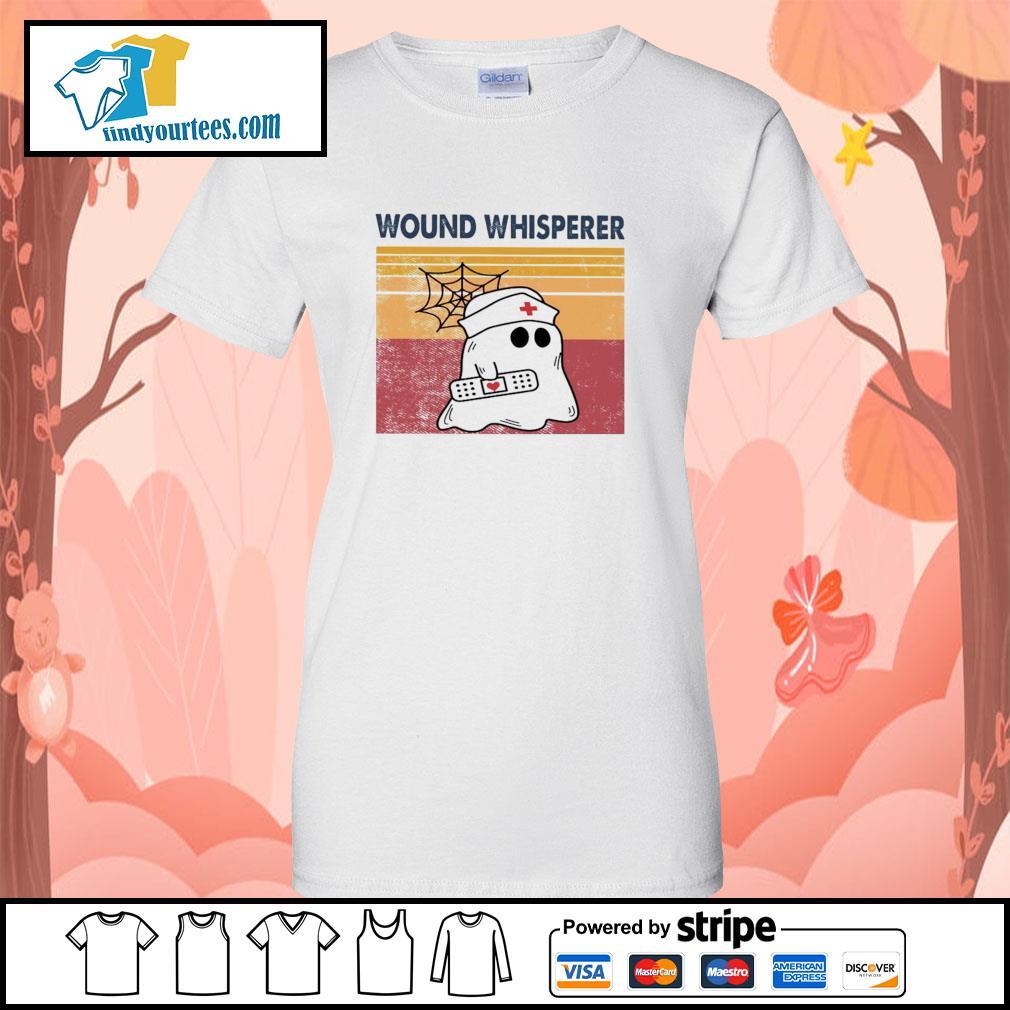 Nurse ghost wound whisperer vintage s ladies-tee