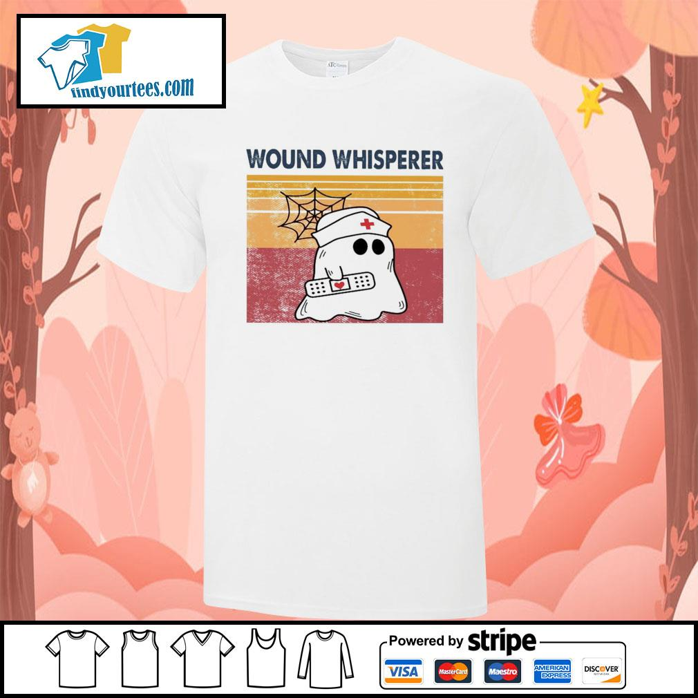 Nurse ghost wound whisperer vintage shirt