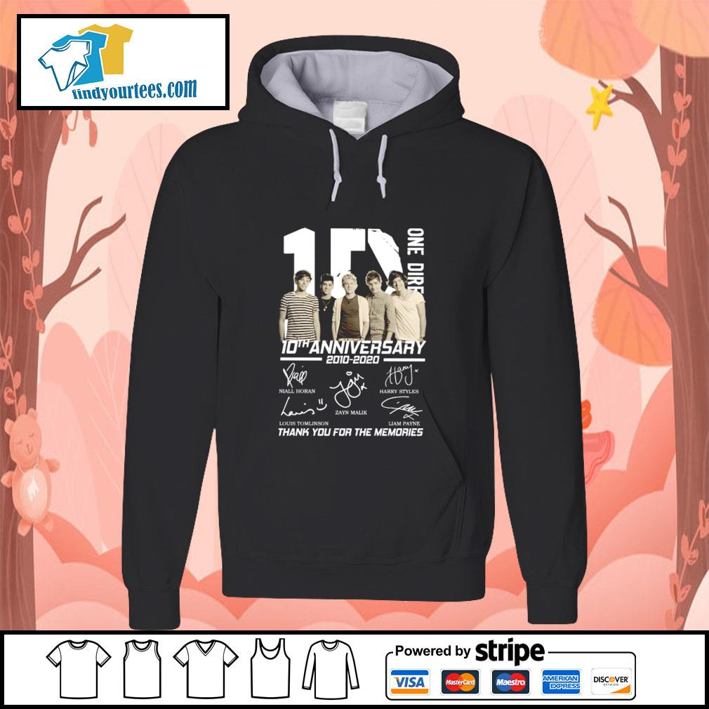 One dire 10th anniversary thank you for the memories signature s hoodie