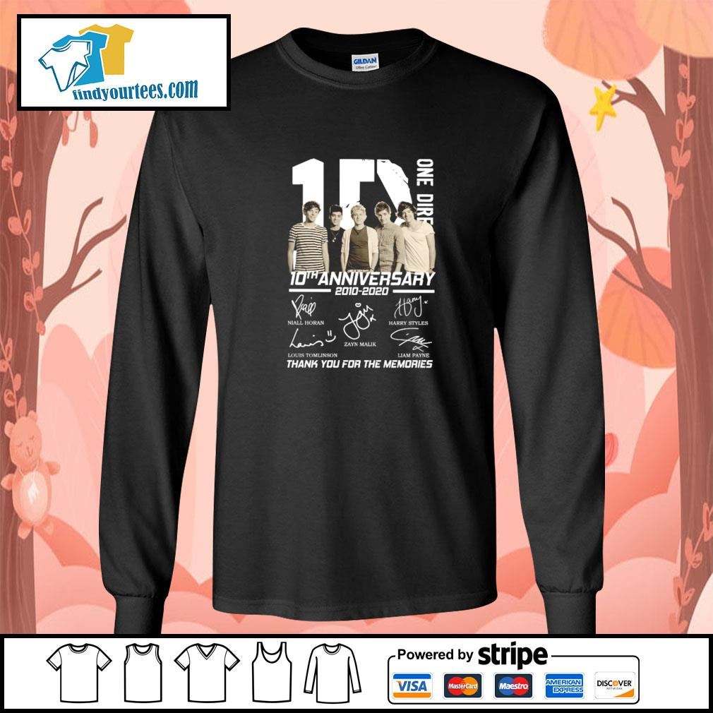One dire 10th anniversary thank you for the memories signature s longsleeve-tee