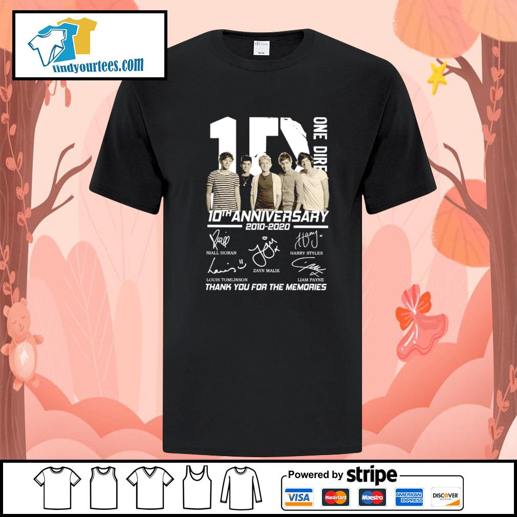 One dire 10th anniversary thank you for the memories signature shirt
