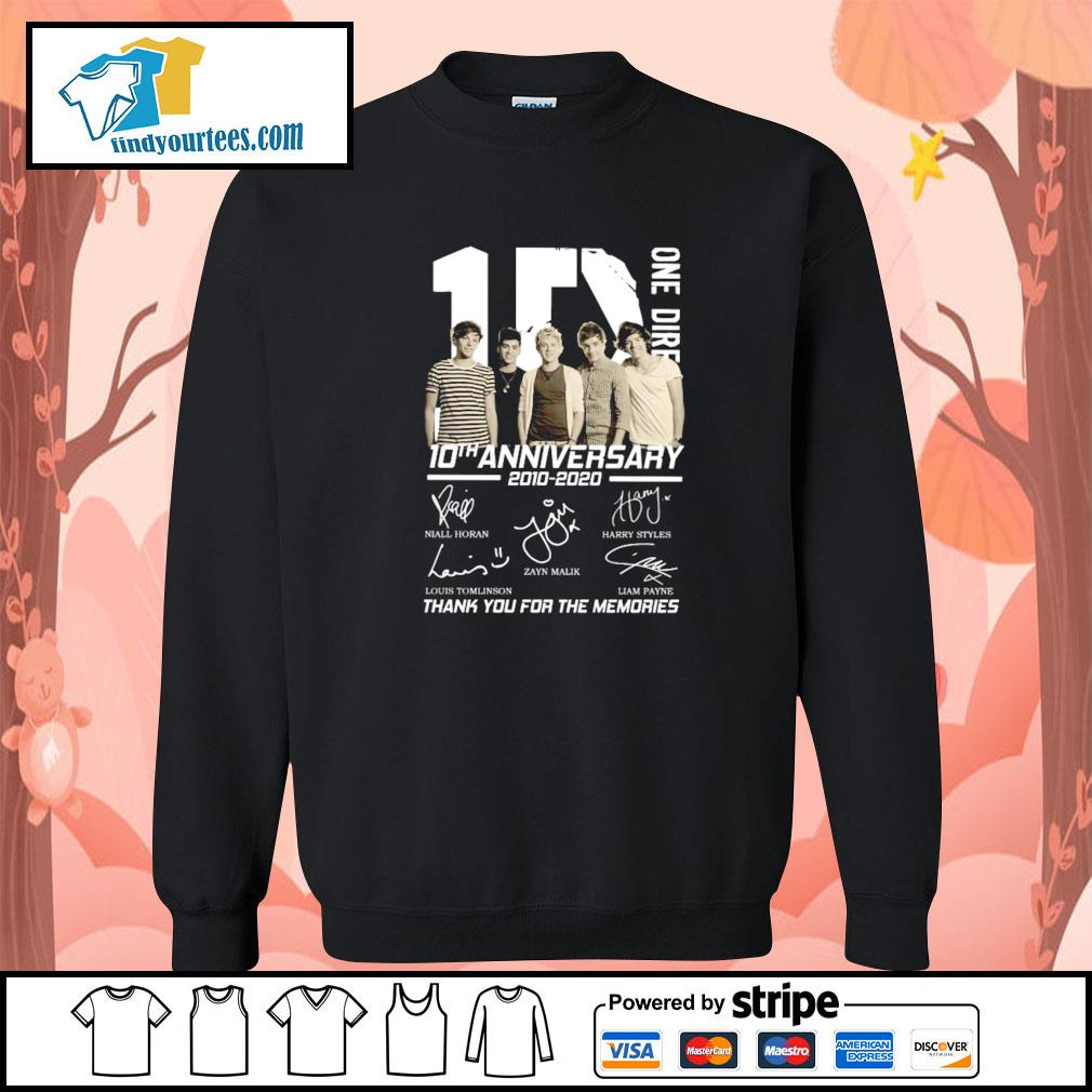 One dire 10th anniversary thank you for the memories signature s sweater