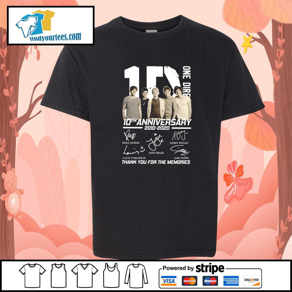 One dire 10th anniversary thank you for the memories signature s youth-tee