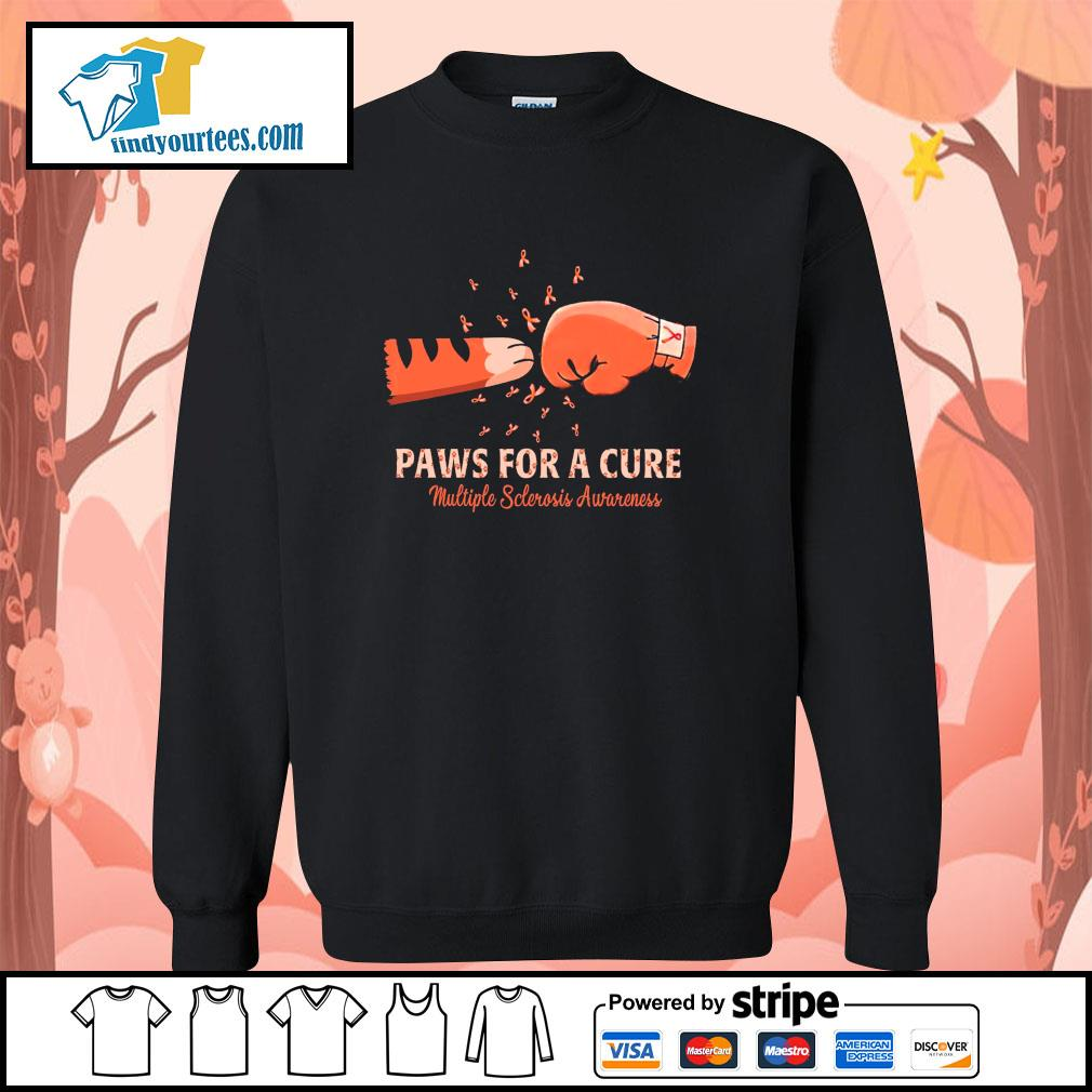 Paw for a cure multiple sclerosis awareness cancer s sweater
