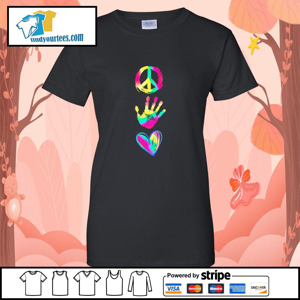 Peace hand caduceus love s ladies-tee