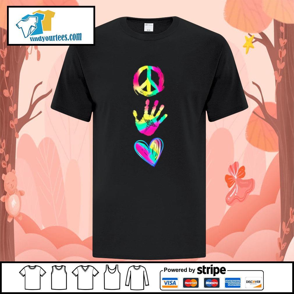 Peace hand caduceus love shirt