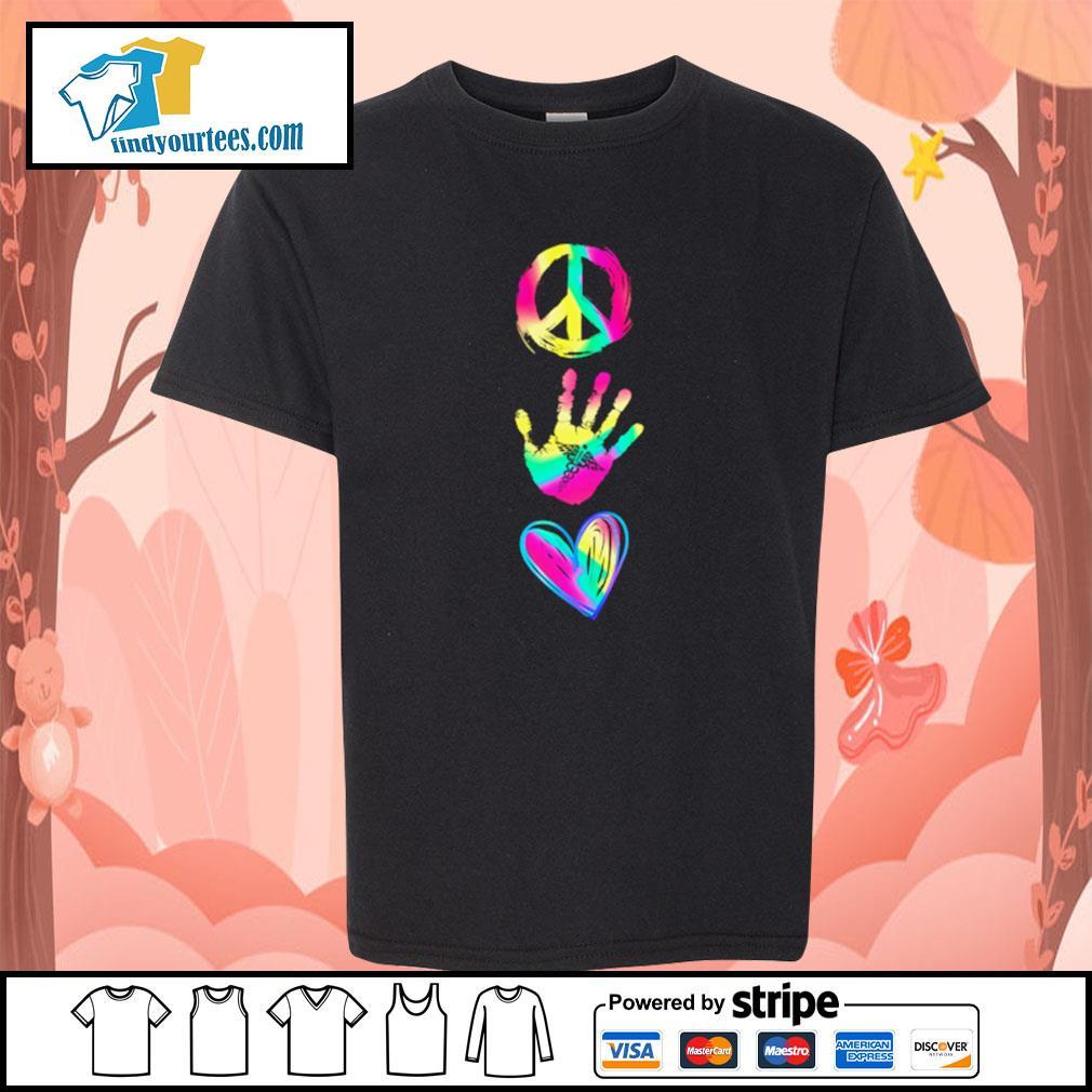 Peace hand caduceus love s youth-tee