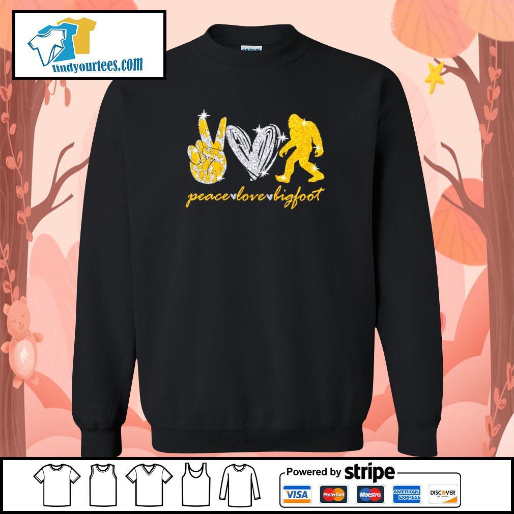 Peace love bigfoot s sweater