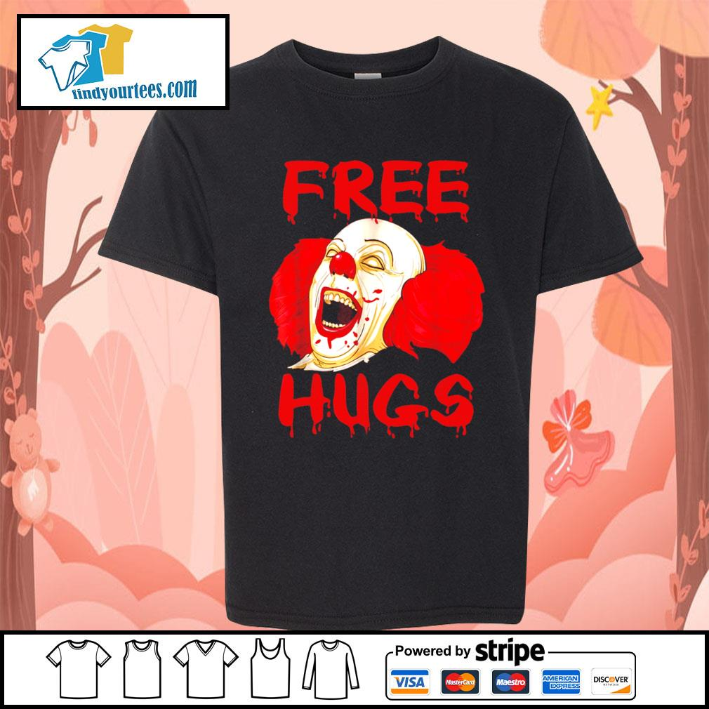 Pennywise free hugs Halloween s Kid-T-shirt