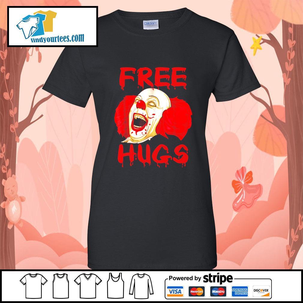 Pennywise free hugs Halloween s Ladies-Tee