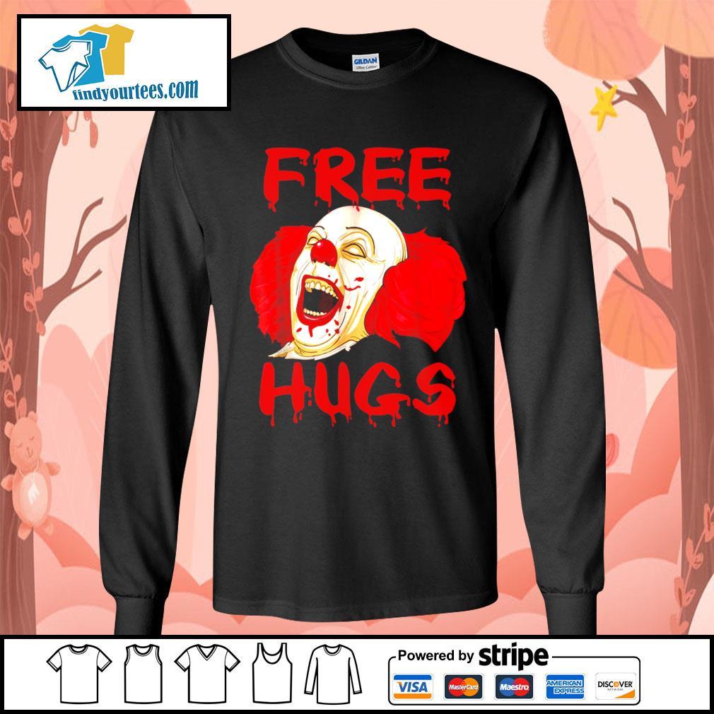 Pennywise free hugs Halloween s Long-Sleeves-Tee