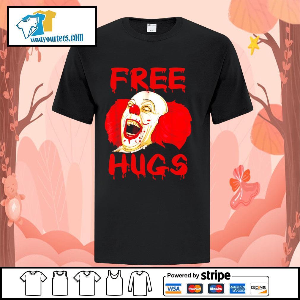 Pennywise free hugs Halloween shirt