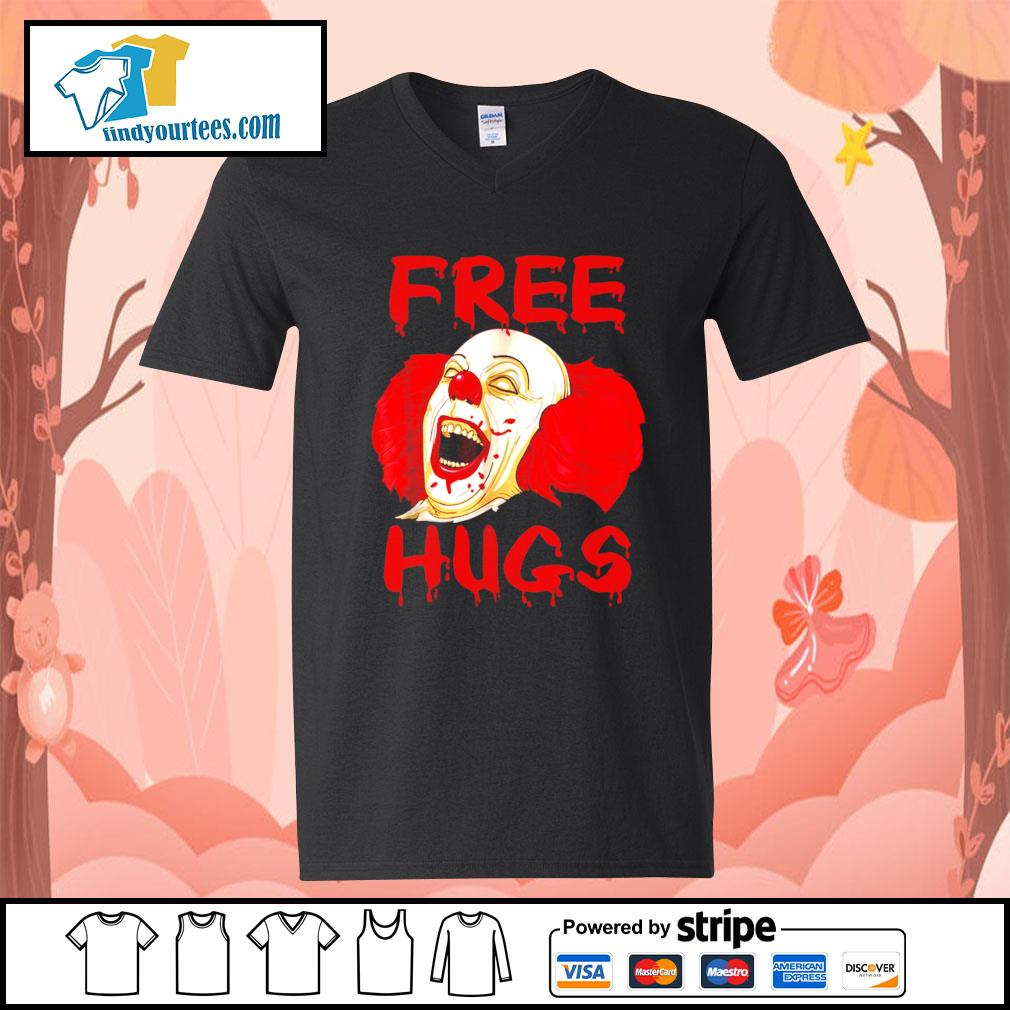 Pennywise free hugs Halloween s V-neck-T-shirt
