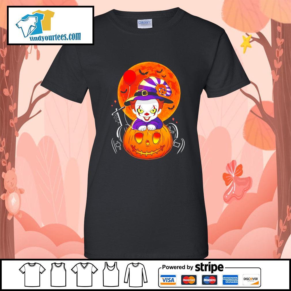 Pennywise pumpkin Halloween s Ladies-Tee