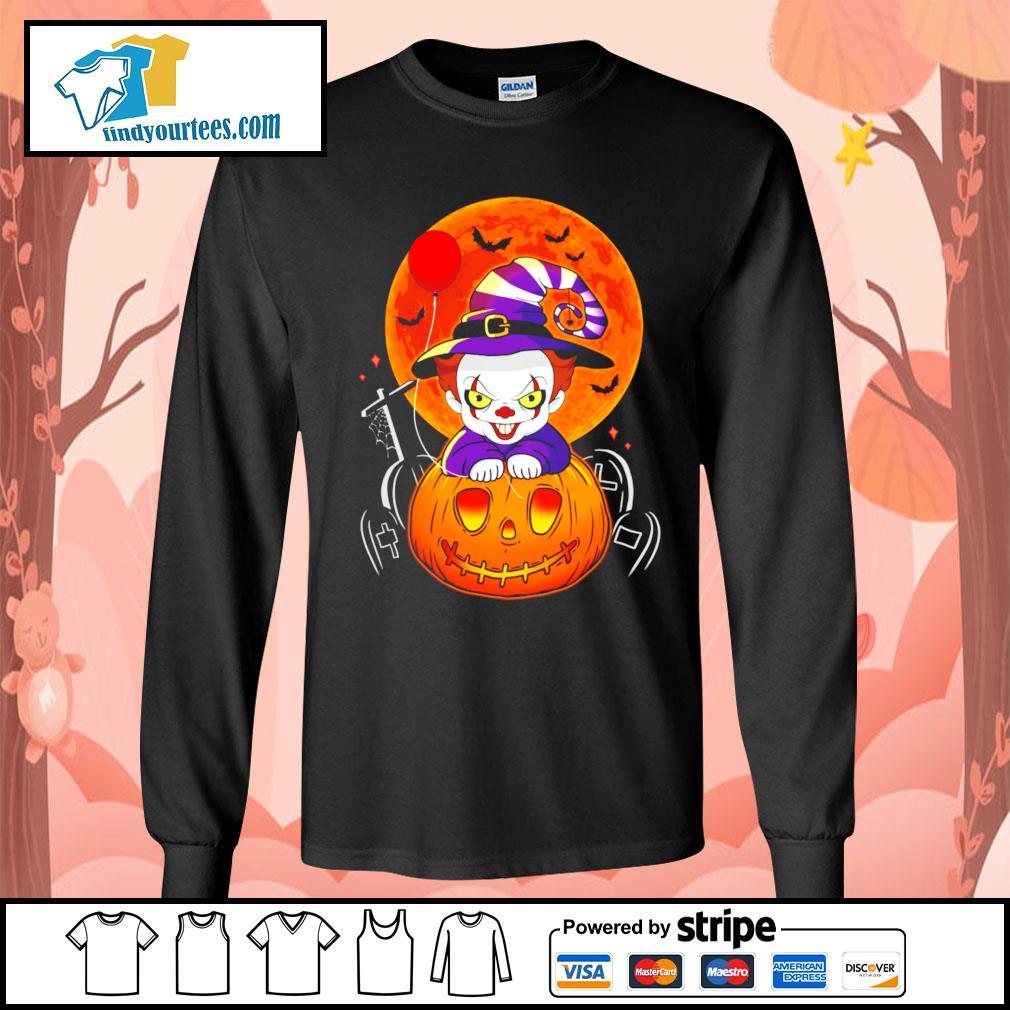 Pennywise pumpkin Halloween s Long-Sleeves-Tee