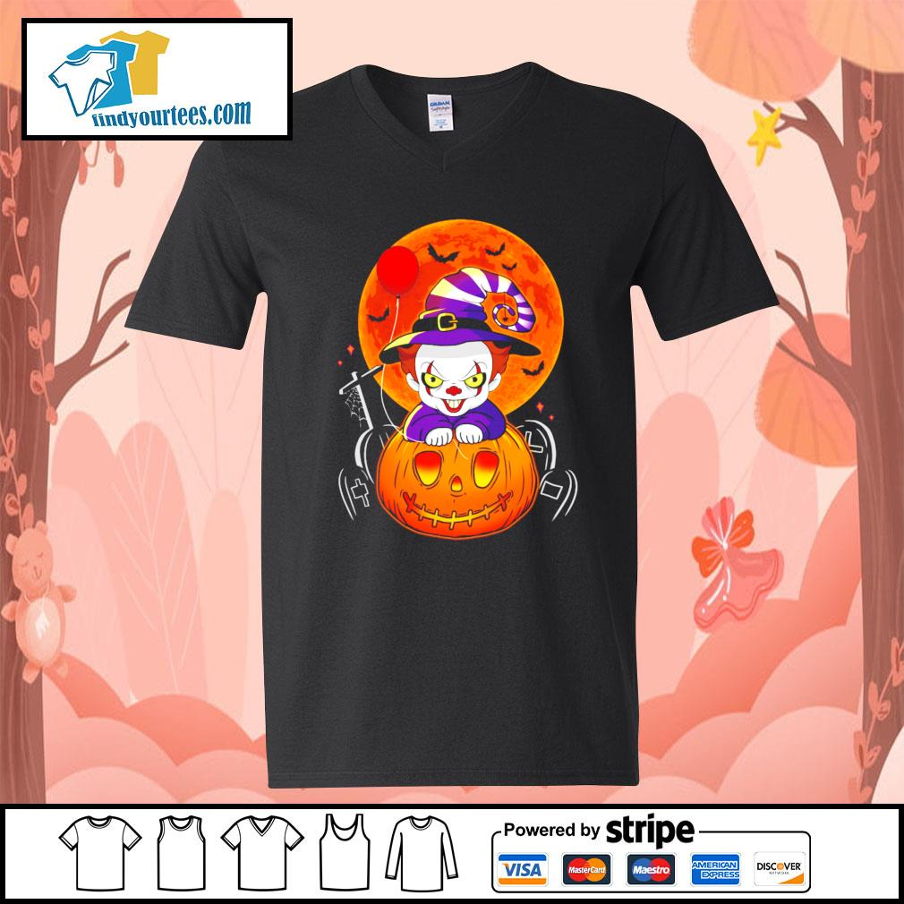 Pennywise pumpkin Halloween s V-neck-T-shirt