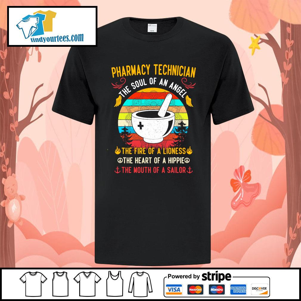 Pharmacy technician the soul of an angel the fire of a lioness vintage shirt