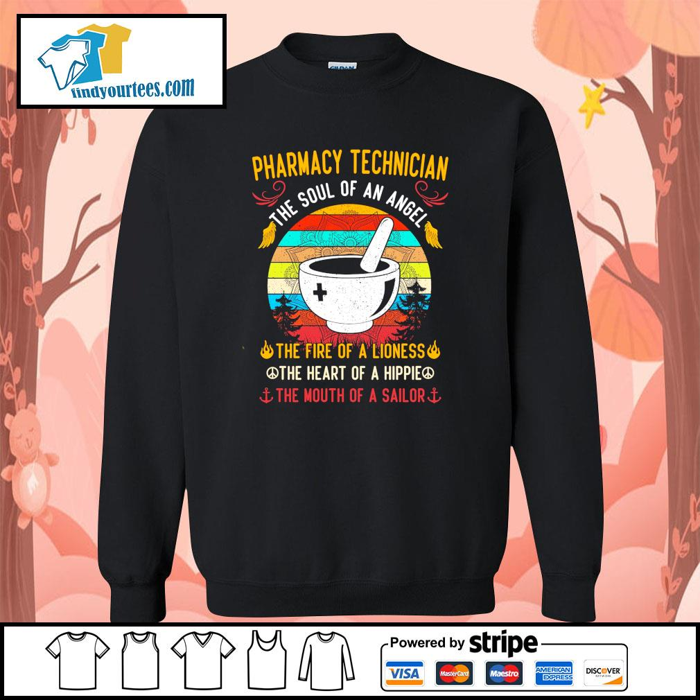 Pharmacy technician the soul of an angel the fire of a lioness vintage s sweater