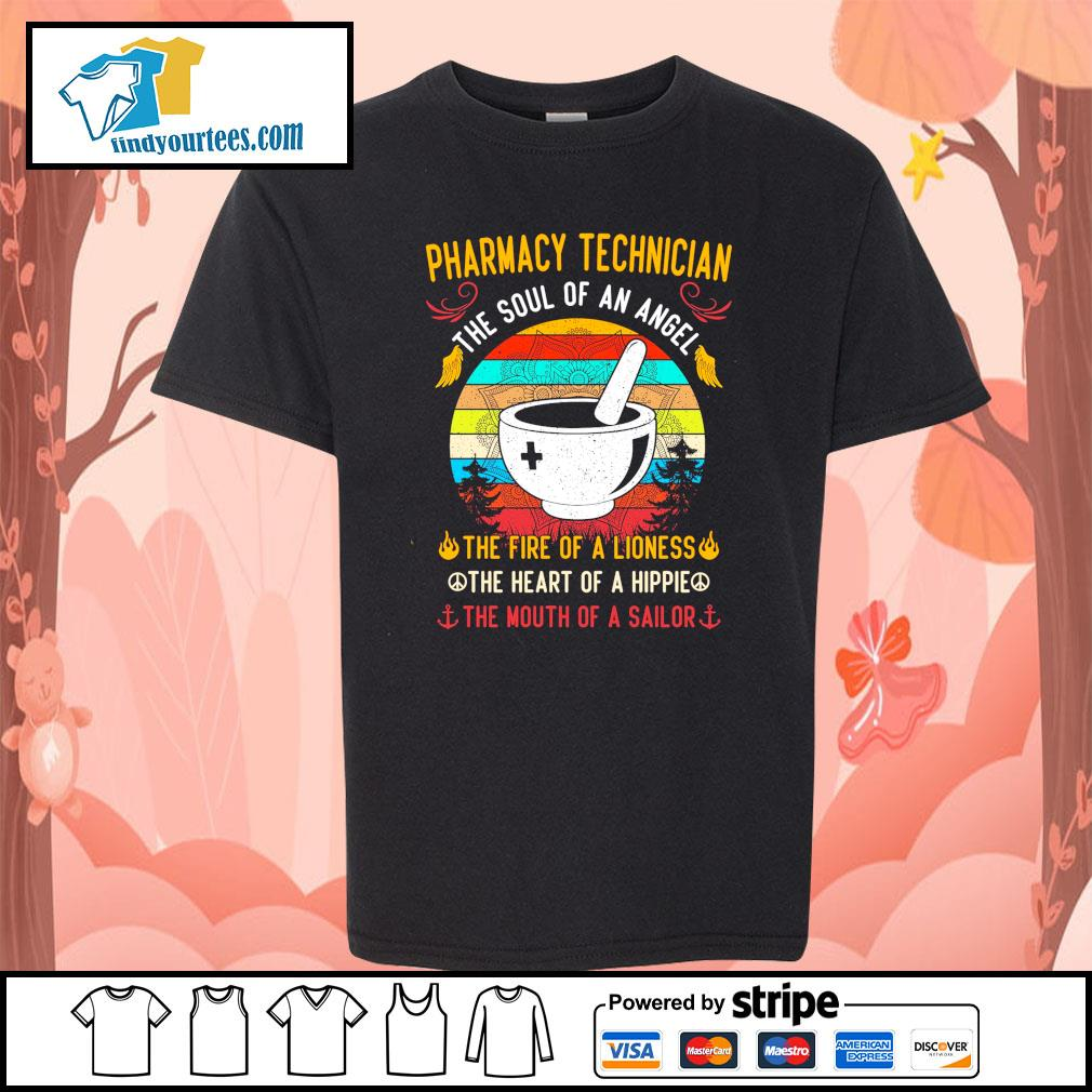 Pharmacy technician the soul of an angel the fire of a lioness vintage s youth-tee