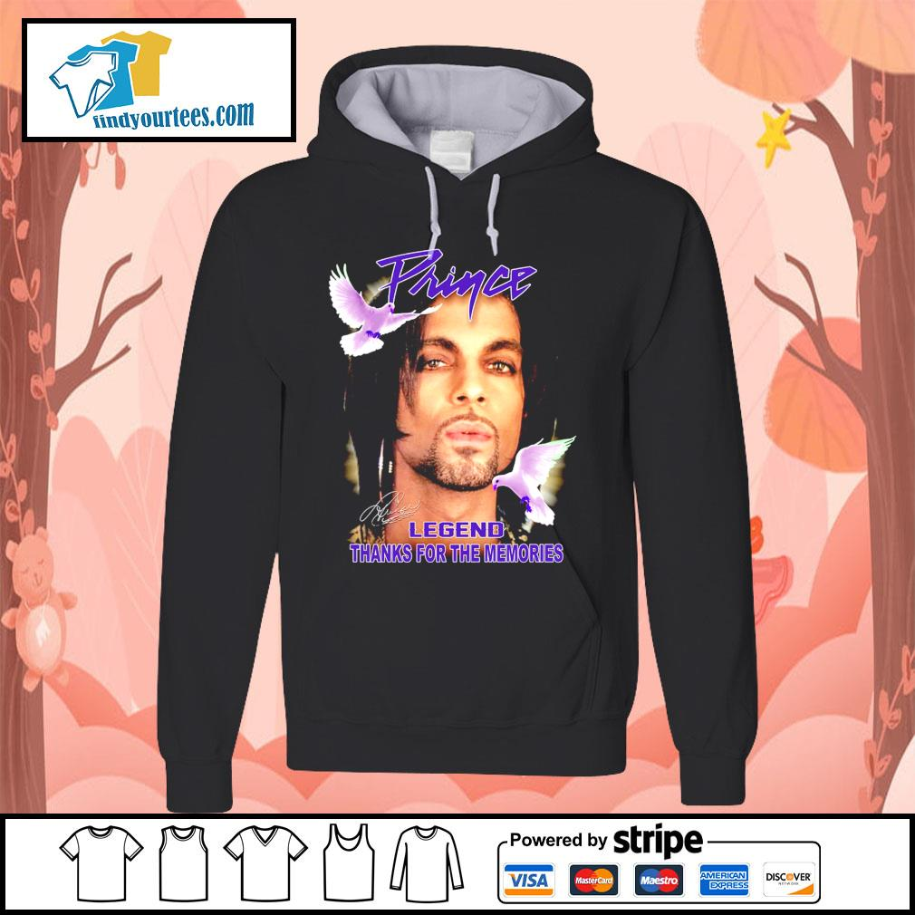 Prince legend thank for the memories signature s Hoodie