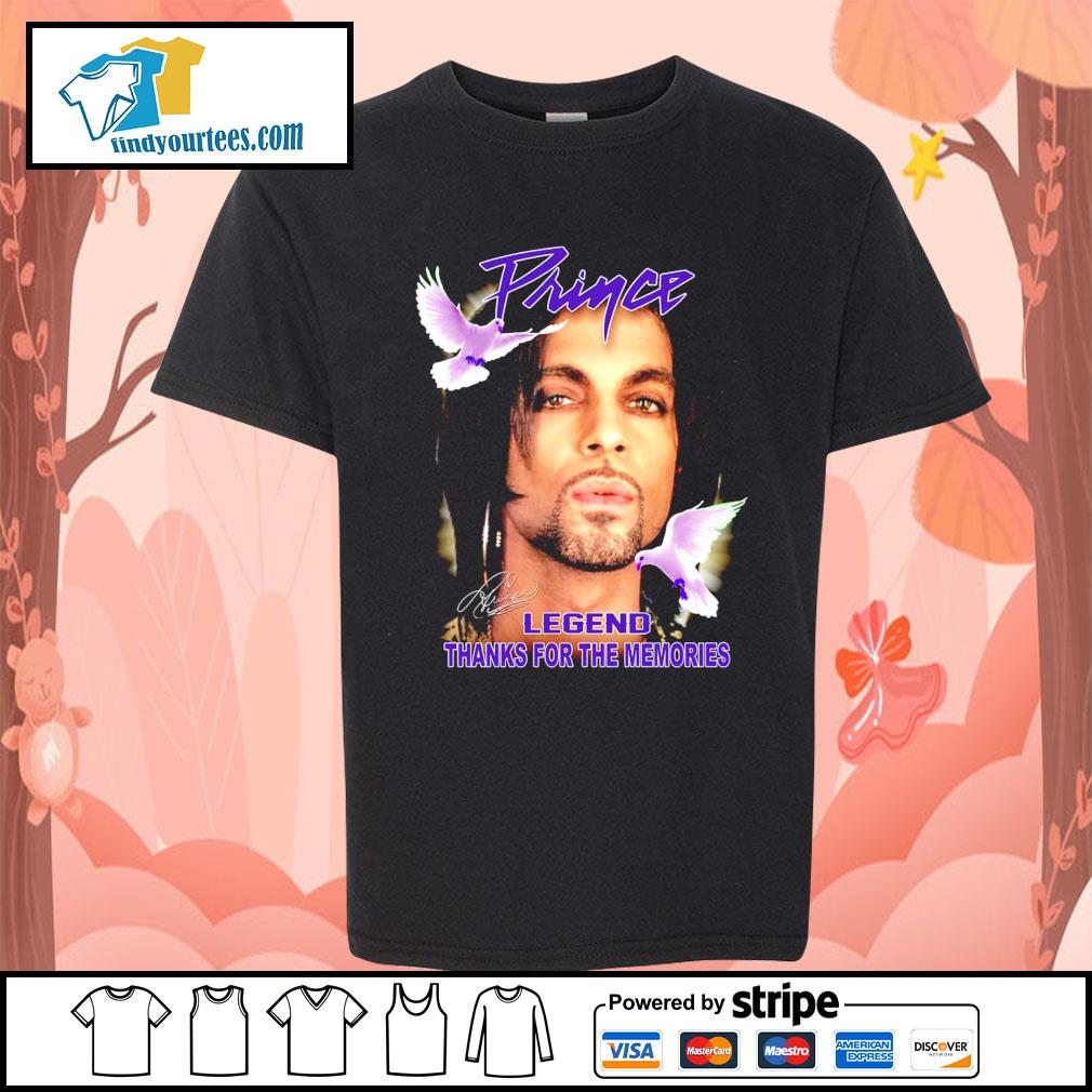 Prince legend thank for the memories signature s Kid-T-shirt