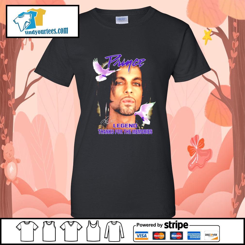 Prince legend thank for the memories signature s Ladies-Tee
