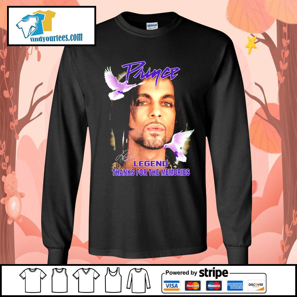 Prince legend thank for the memories signature s Long-Sleeves-Tee