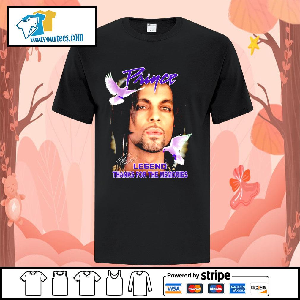 Prince legend thank for the memories signature shirt