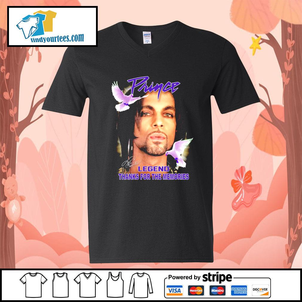 Prince legend thank for the memories signature s V-neck-T-shirt