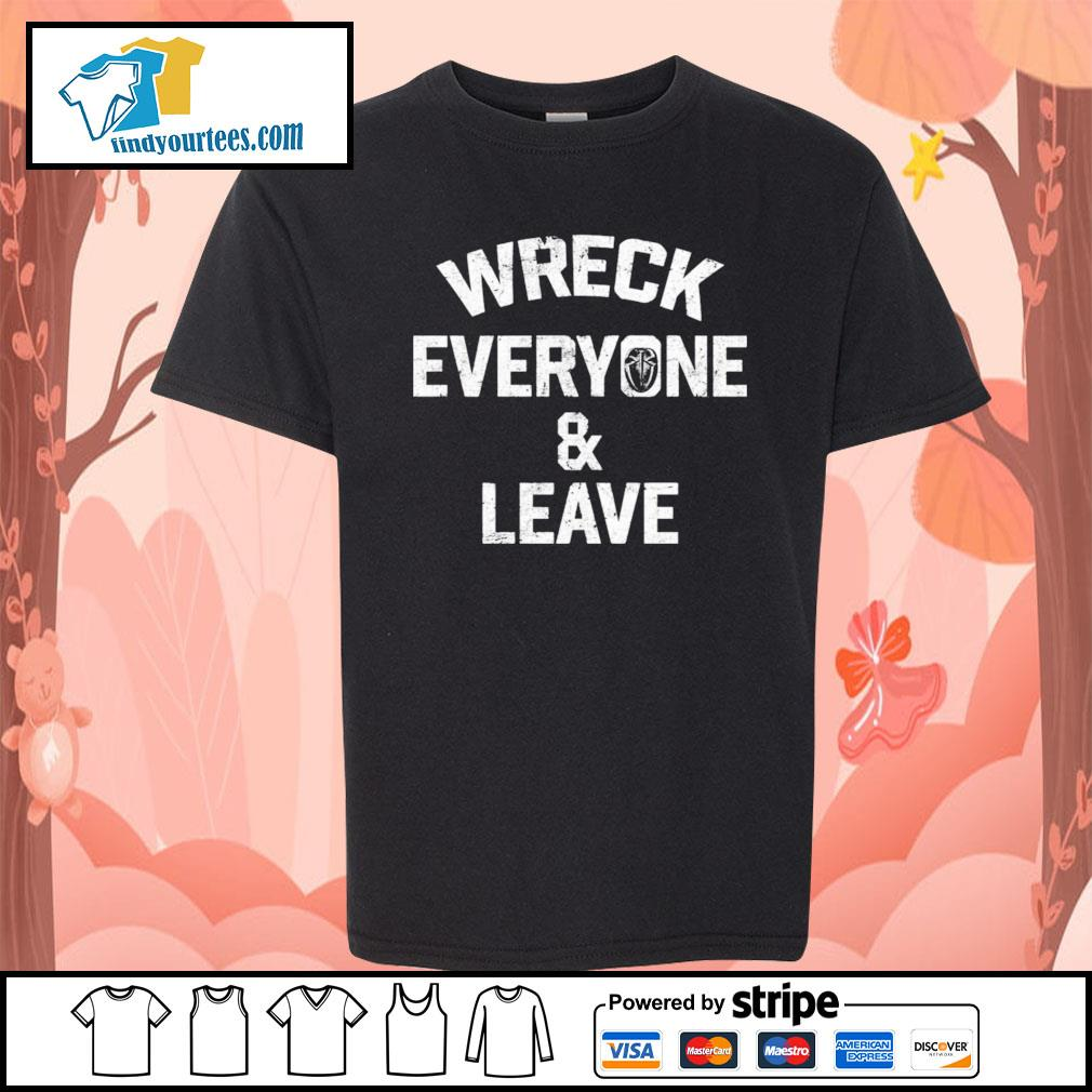 Roman Reigns wreck everyone and leave s Kid-T-shirt