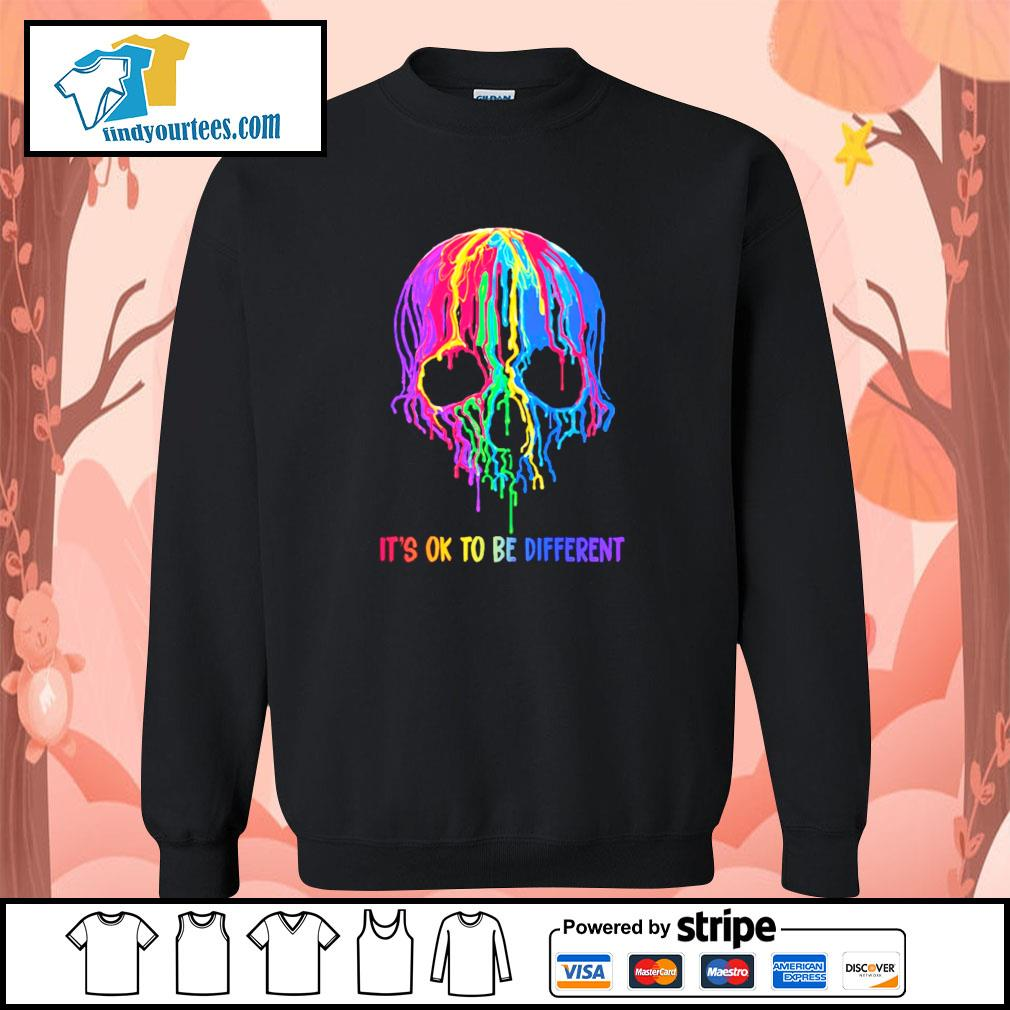 Skull colorful it's ok to be different s sweater