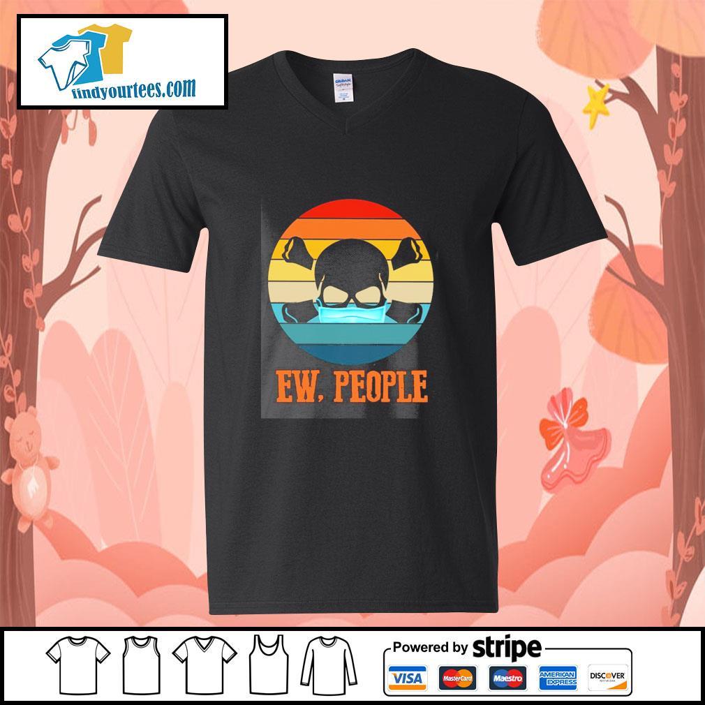 Skull mask ew people vintage s v-neck-t-shirt