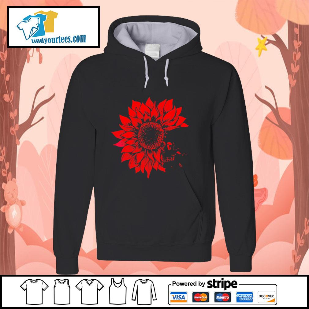 Skull Red Sunflower hoodie