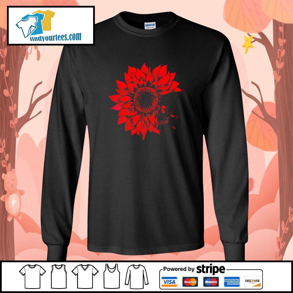 Skull Red Sunflower longsleeve-tee