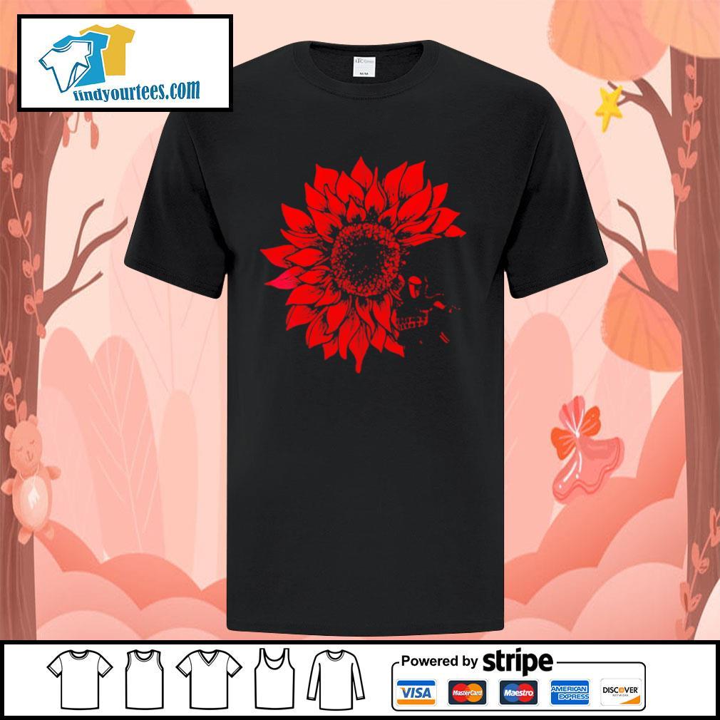 Skull Red Sunflower