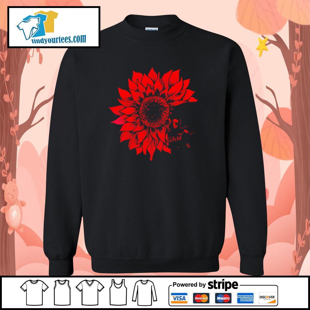 Skull Red Sunflower sweater