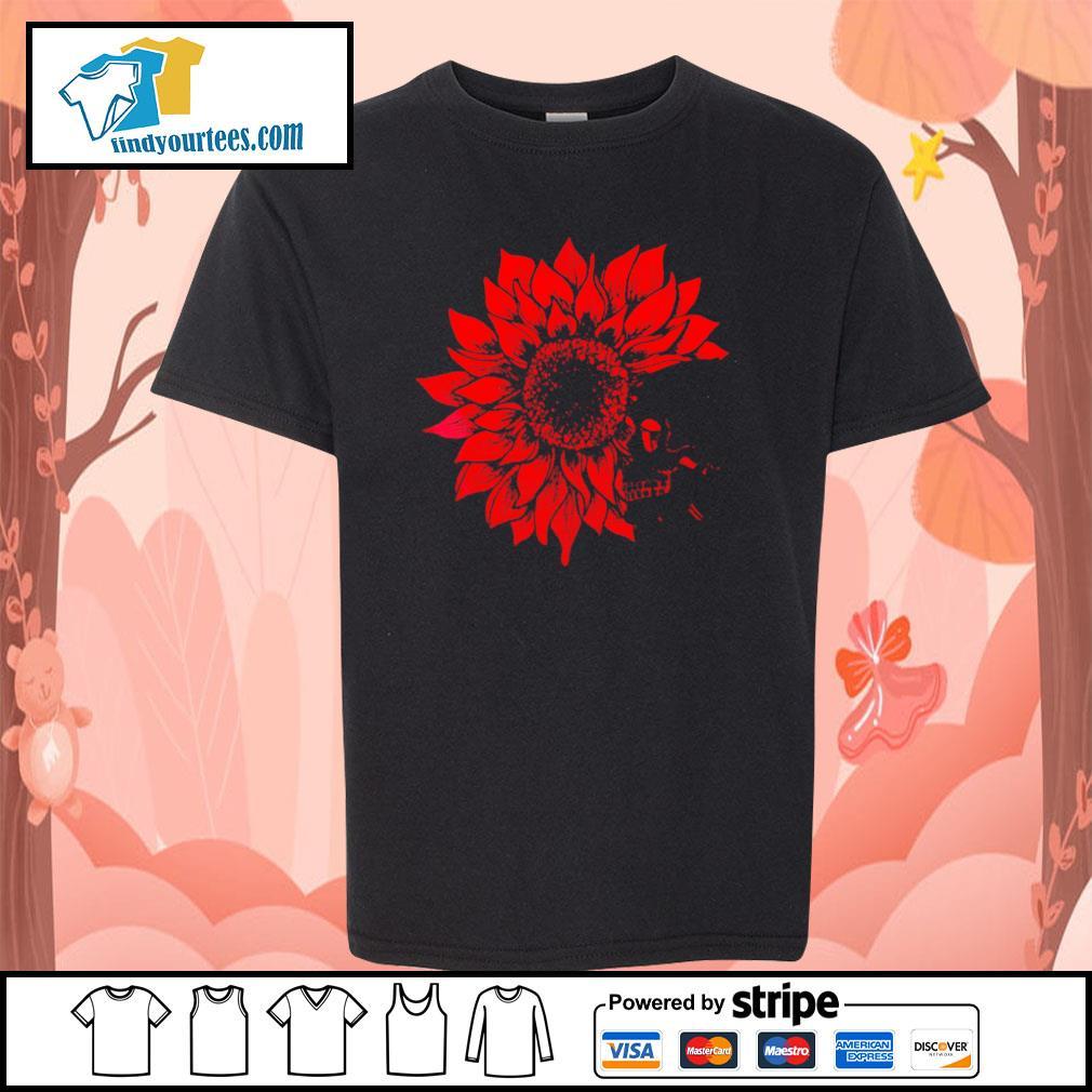 Skull Red Sunflower youth-tee
