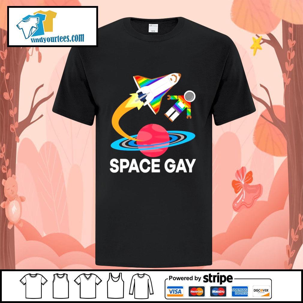 Space gay LGBT shirt