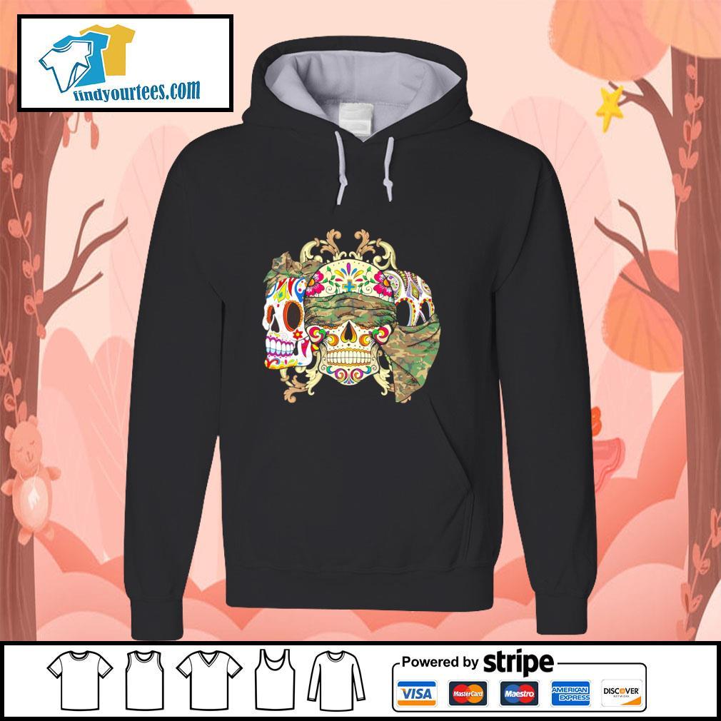 Sugar Skull Camouflage hoodie