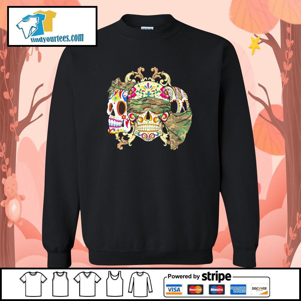 Sugar Skull Camouflage sweater