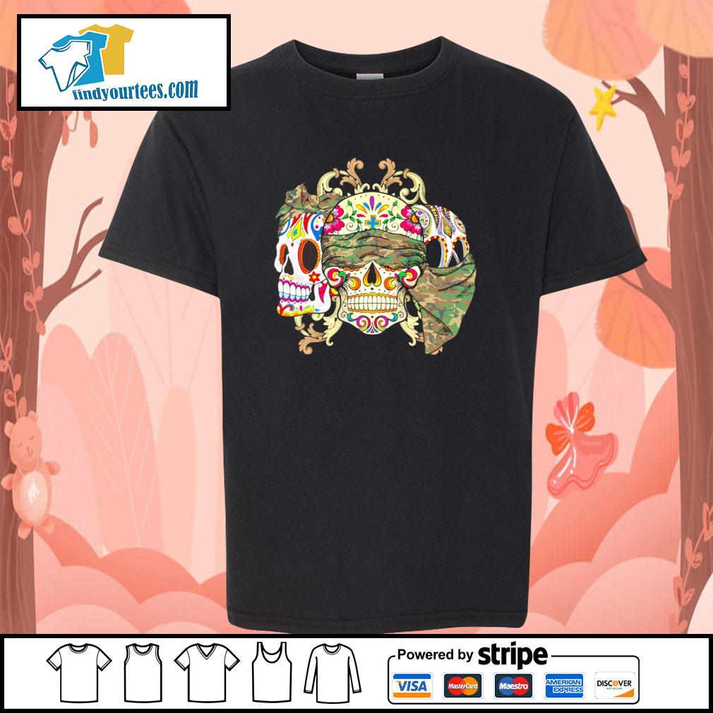 Sugar Skull Camouflage youth-tee