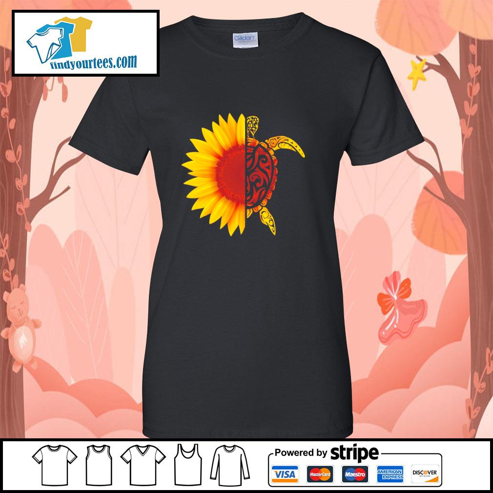 Sunflower turtle s ladies-tee