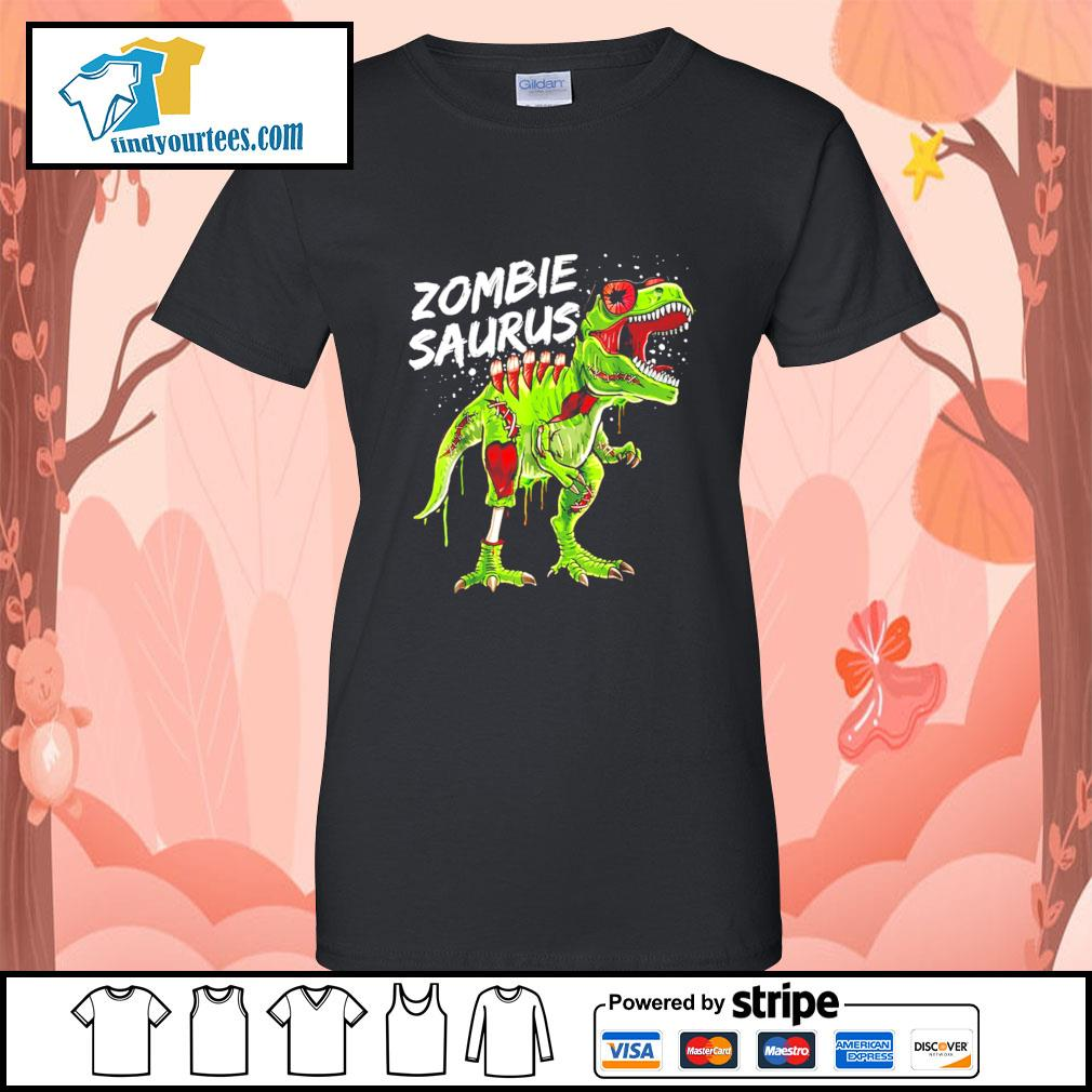 T-Rex zombie saurus Halloween s Ladies-Tee