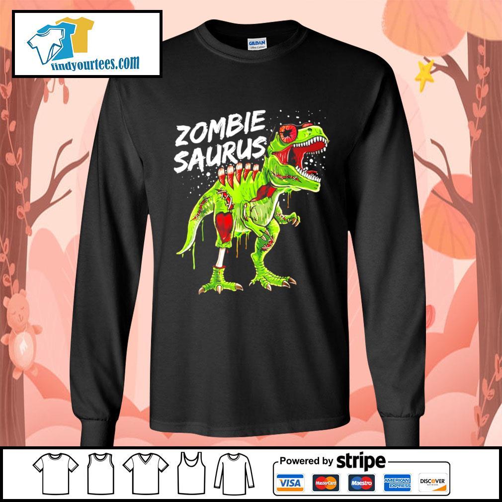 T-Rex zombie saurus Halloween s Long-Sleeves-Tee