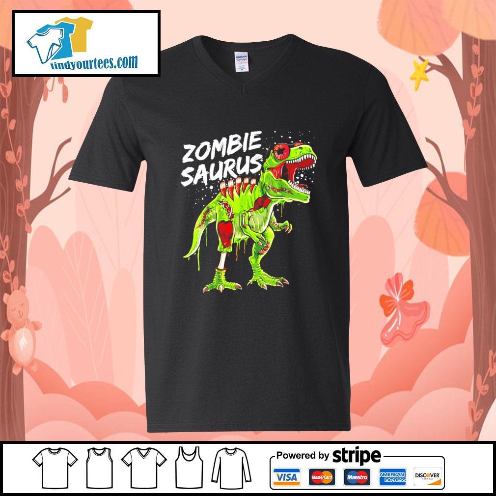 T-Rex zombie saurus Halloween s V-neck-T-shirt