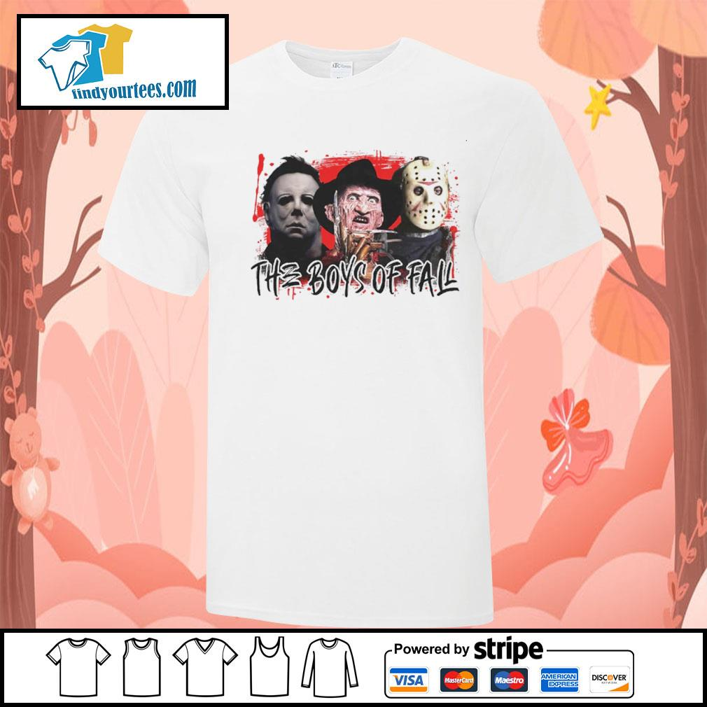 The boys of fall Michael Myers Freddy Krueger Jason Voorhees shirt