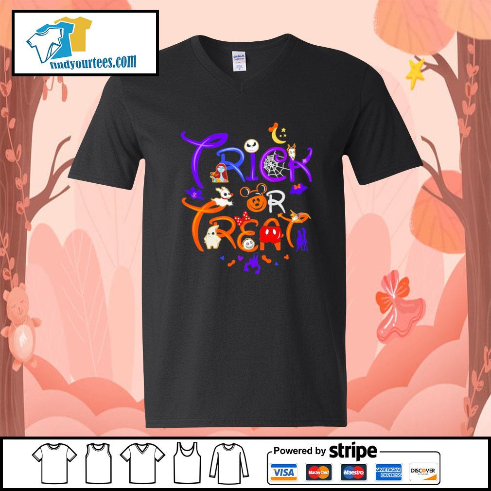 The Nightmare Before Christmas trick or treat Halloween s V-neck-T-shirt