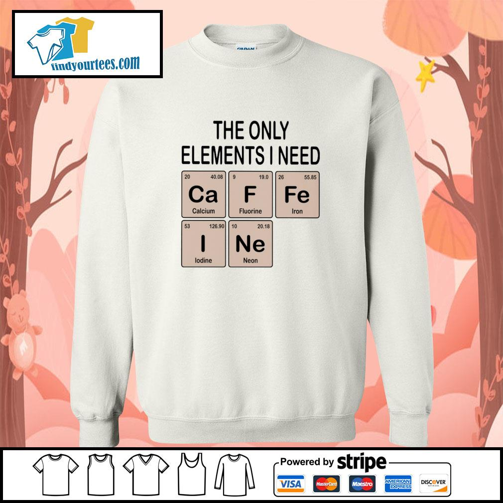 The only elements I need cafein s sweater