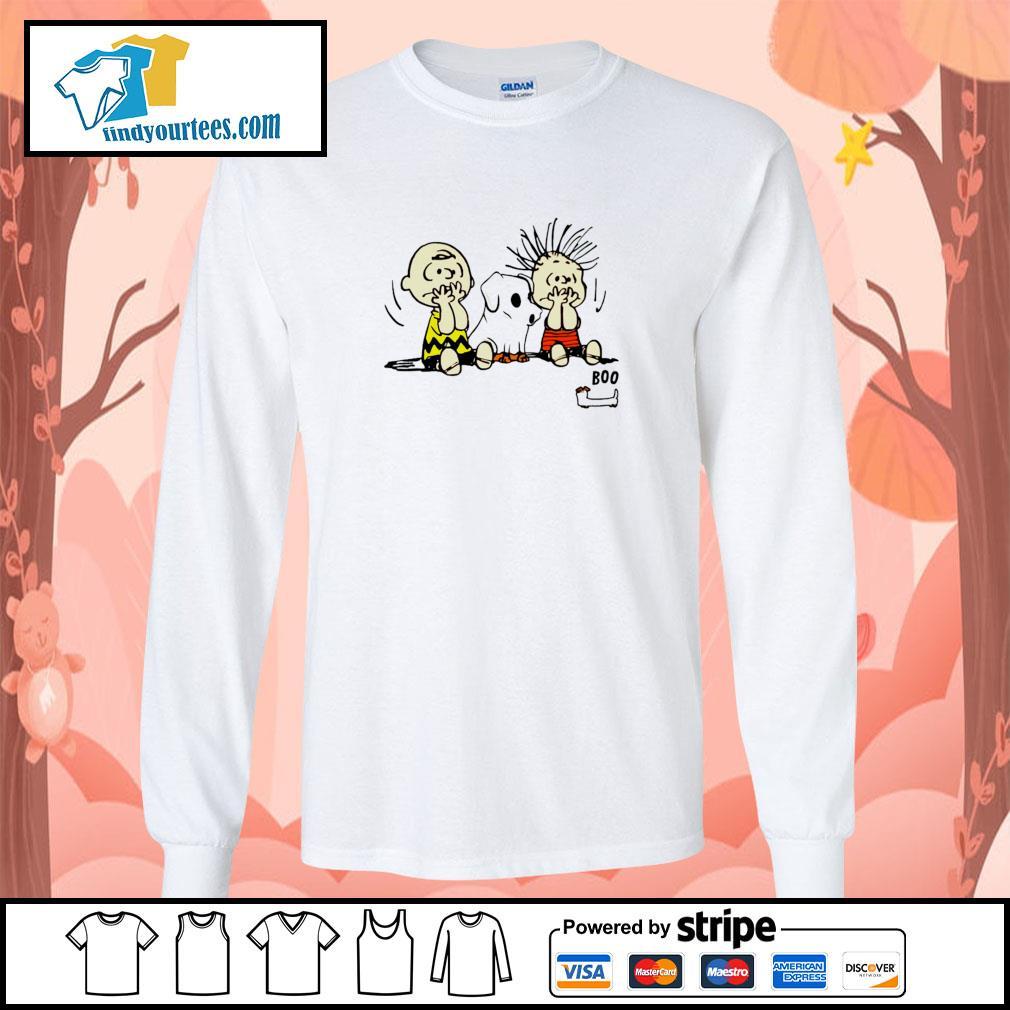 The peanuts dachshund ghost boo s longsleeve-tee