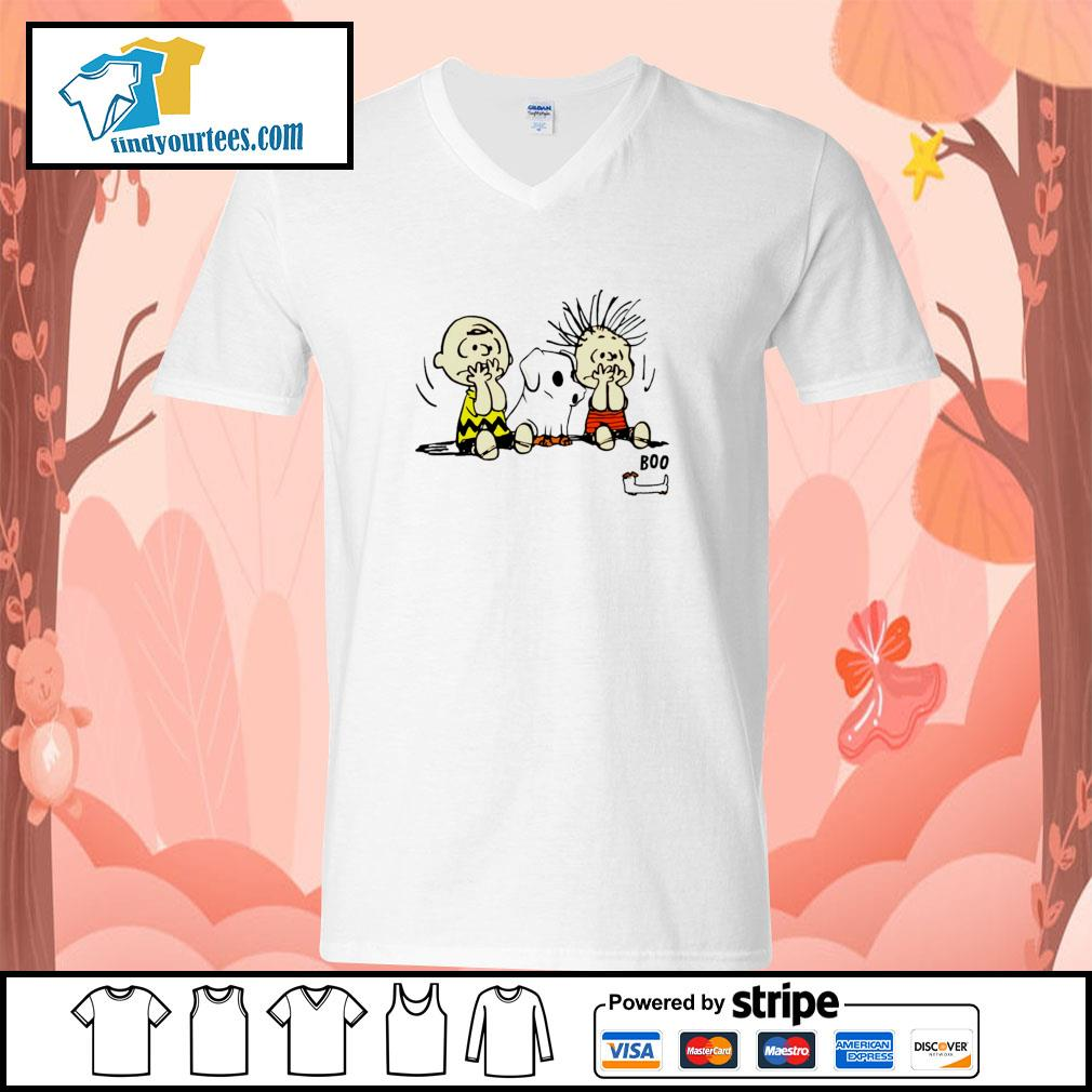 The peanuts dachshund ghost boo s v-neck-t-shirt